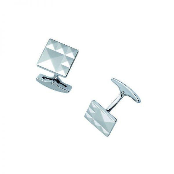 Запонки S.T.Dupont квадратные с узором бриллиантовое гильоше 5222
