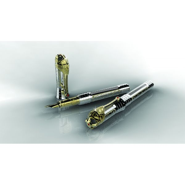 Перьевая ручка S.T.Dupon коллекции WHITE KNIGHT PRESTIGE