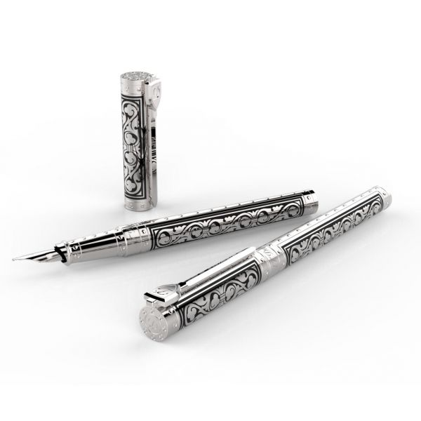 Ручка-роллер S.T.Dupon коллекции WHITE KNIGHT Premium 142030
