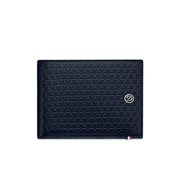 "Бумажник S.T.Dupont коллекции 180090 ELYSEE, мягкая черная кожа c тиснением ""FIRE HEAD"""